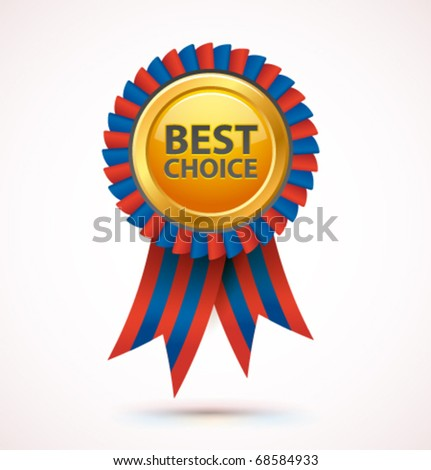 Vector best choice award. - stock vector