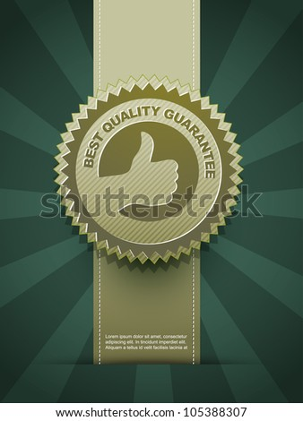 vector best quality design label