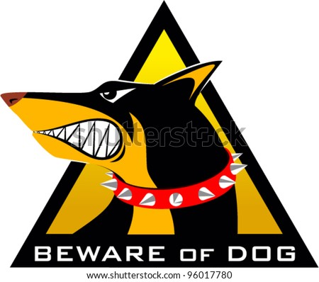 vector beware of dog sign