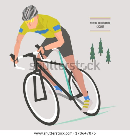 Vector Bicycle Champion Illustrations