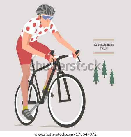 Vector Bicycle Climbing Specialist Illustrations