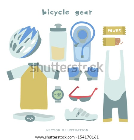 Vector Bicycle Gear Illustration