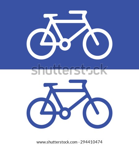 Vector bicycle icon, Illustration EPS10