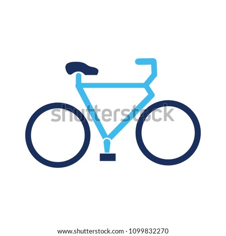 vector Bicycle illustration - ride cycle symbol, exercise sign symbol - Shutterstock ID 1099832270
