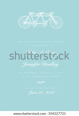 Vector Bicycle Invitation. Easy to edit. Perfect for invitations or announcements.