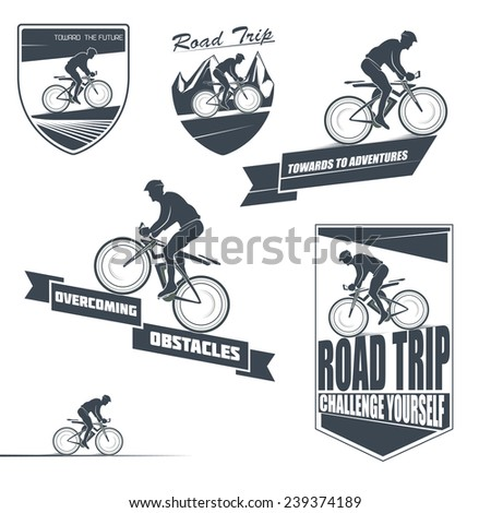 vector bicycle labels  badges