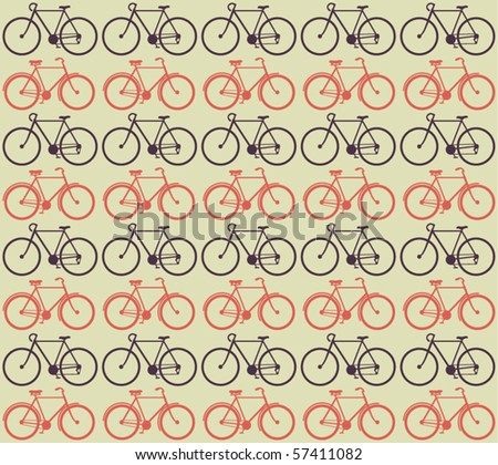Vector Bicycle Pattern