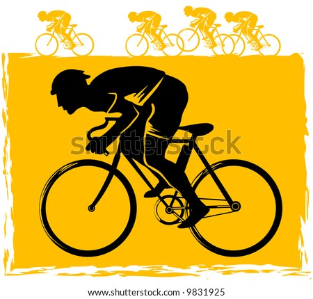 Vector Bicycle Race