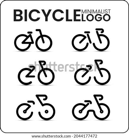 vector bicycles flat minimalist