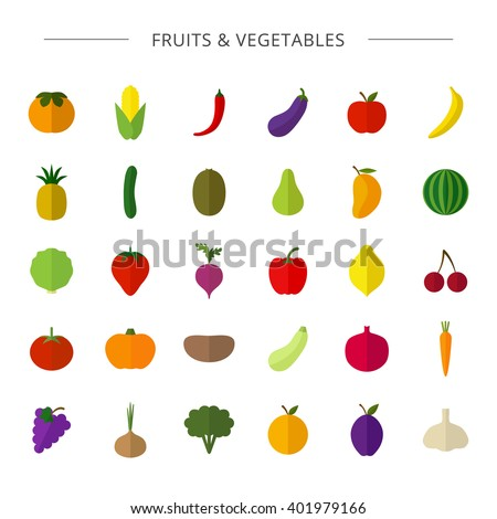 vector big collection of fruit