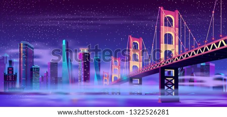 vector big hinged bridge and