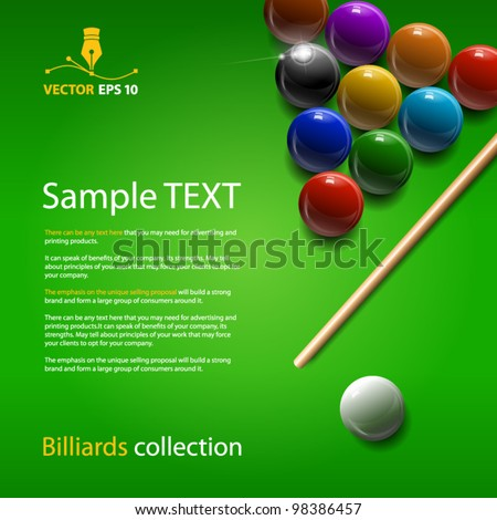 Vector billiards collection