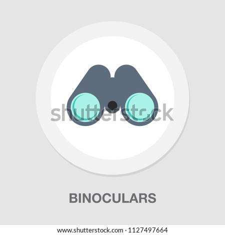 vector binoculars illustration isolated, vision concept. find icon