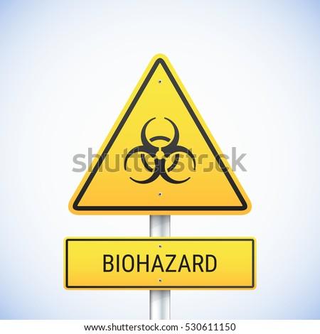 vector biohazard sign road