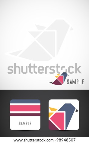 Vector bird icon such logo and business card templates