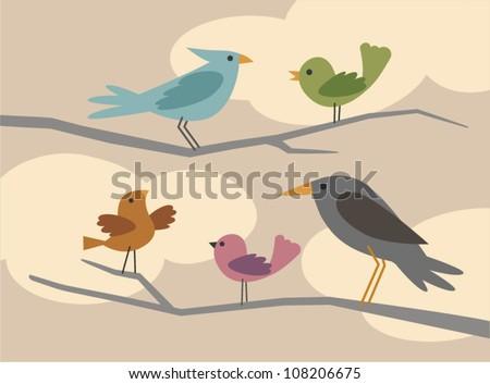 vector bird set 3