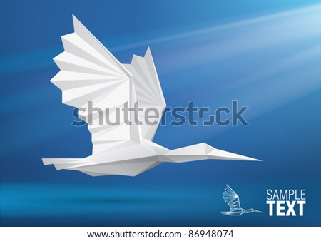 vector bird stylized triangle