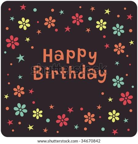 Vector Birthday Card Design - 34670842 : Shutterstock