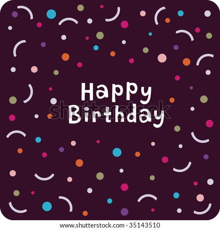 Vector Birthday Card Design - 35143510 : Shutterstock