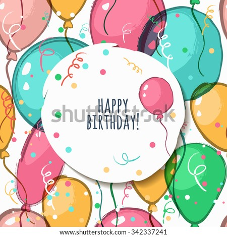 vector birthday card with