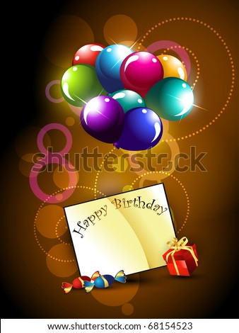 vector birthday design with balloons