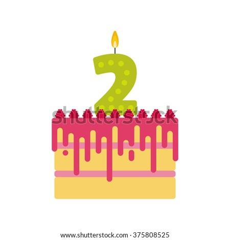 vector biscuit birthday cake