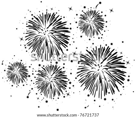 fireworks clipart black and white. lack and white fireworks