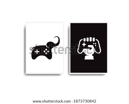 vector black and white game