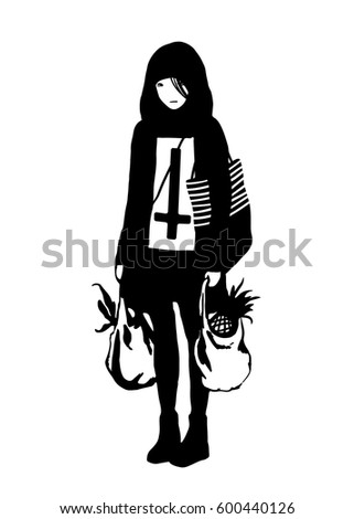 vector black and white
