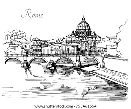 vector black and white image of