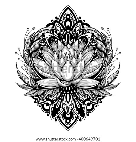 vector black and white tattoo