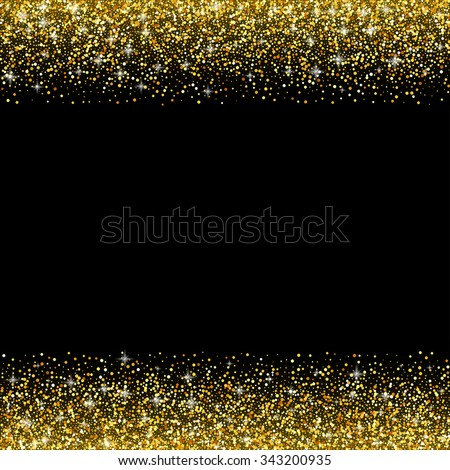 royalty free gold glitter confetti frame for festive 447677086