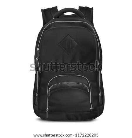 Vector Black Backpack bag
