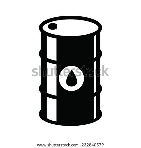 vector black barrel icon on