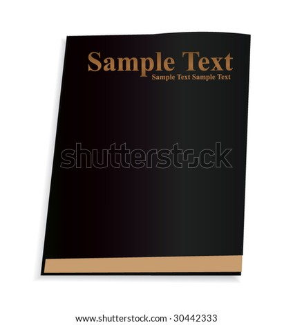 Vector Black Book - stock vector