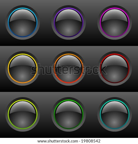 Vector Black Buttons