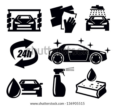 car wash vector icons - download free vector art, stock graphics