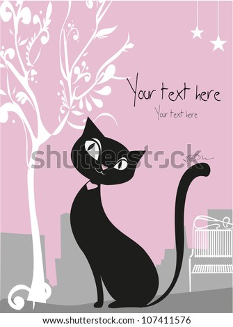 vector black cat