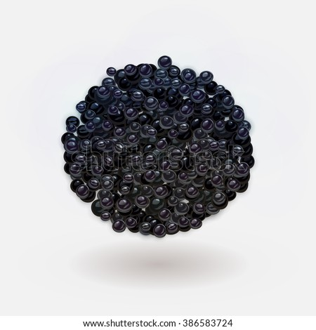 vector black caviar