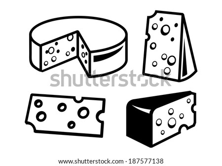 vector black cheeses icon on white background