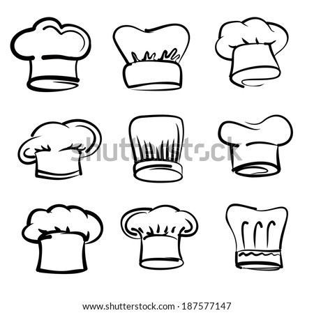 Chef Hat Icon Vector Vector Black Chef Hat Icon on