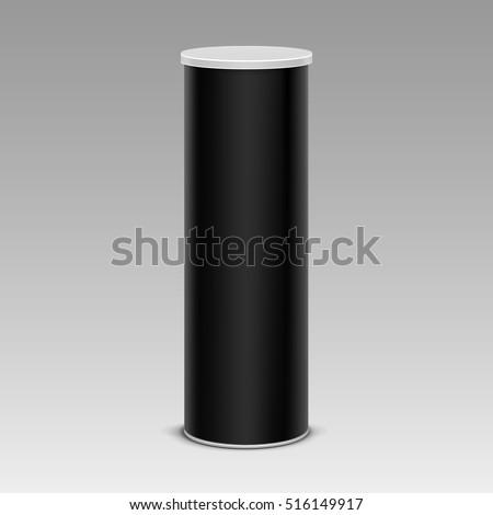 vector black chips tin box
