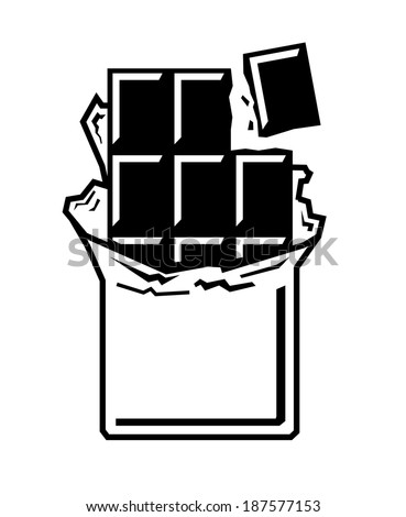 vector black chocolate bar icon