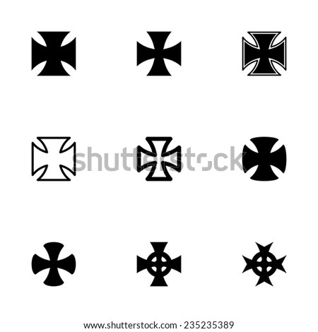 vector black choppers crosses
