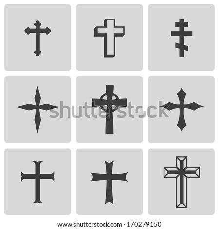 vector black christia crosses