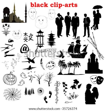 vector black clip-arts collection
