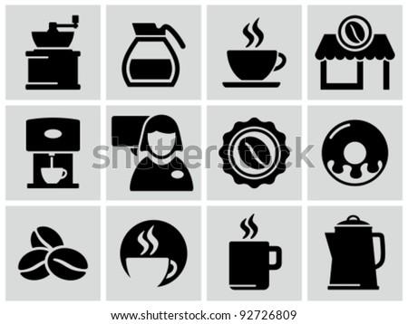 Coffee Shop Logo Vector Vector Black Coffee Shop Icons