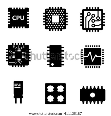 vector black cpu microprocessor