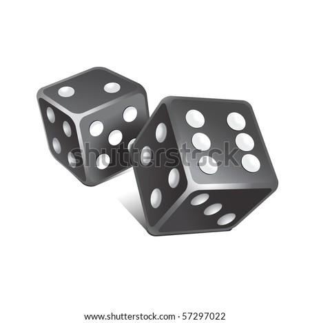 Vector black dice.