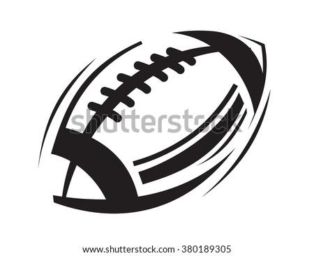 vector black football icons on